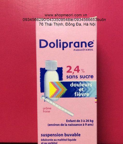 SIRO HẠ SỐT, GIẢM ĐAU DOLIPRANE 100ML ( GỐC PARACETAMOL) 2,4% - PHÁP