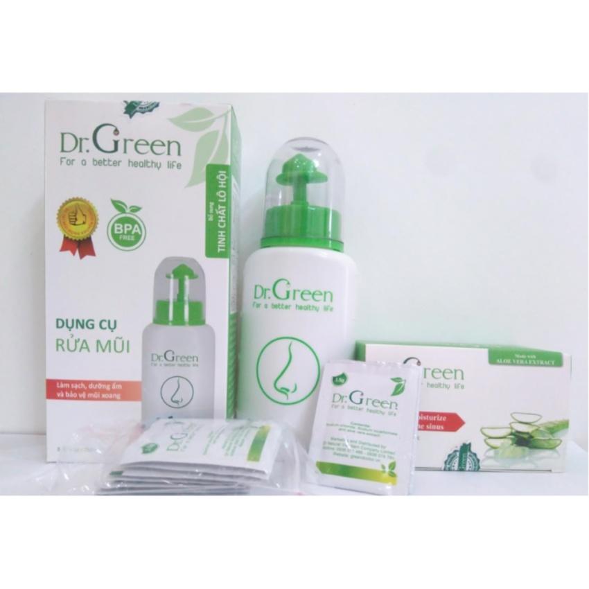 Bình rửa mũi Dr.Green (kèm Hộp hỗn hợp dung dịch)
